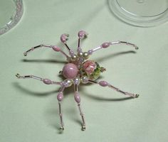 I HATE spiders...but isn't this the prettiest spider you ever saw?? Beaded Spider