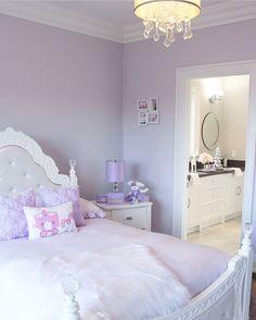 Lovely Lavender Fairytale Girl's Bedroom — Decor For Kids Lilac Bedroom, Purple Bedrooms, Teen Girl Bedrooms, Bedroom Sets, Lavender Bedrooms, King Bedroom, Girls Bedroom Purple, Lavender Room, Kids Bedroom Furniture