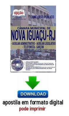 Apostila - AUX. ADMINISTRATIVO / LEGISLATIVO - TELEFONISTA - GARÇOM - Câmara Municipal de Nova Iguaç