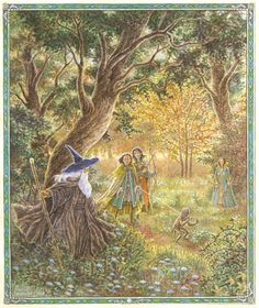 The Captive~ Inger Edelfeldt (this looks like when Gandalf asked the elves of the Woodland Realm to keep Gollum captive)
