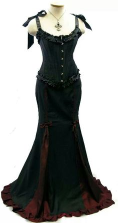Gorgeous black corset fishtail skirt