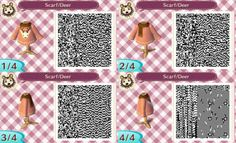 callisto-crossing:  For the anon that requested a scarf be added to the deer sweater!
