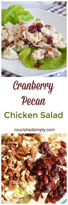 Cranberry Pecan Chicken Salad is festive enough for your holiday menu but such an easy meal to fix for everyday. I love making this for my lunch on the go!