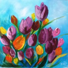"""Create your own """"Tulips""""at a local winery. More info at CorksandCanvasEvents.com"""