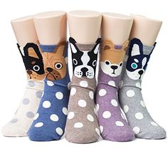Socksense Hello Puppy Dogs Womens Socks 5pairs5color1pack Made in Korea ** Find out more about the great product at the image link.