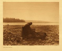 "Edward S. Curtis' ""The Mussel Gatherer"" (pictured is Princess Angeline)"