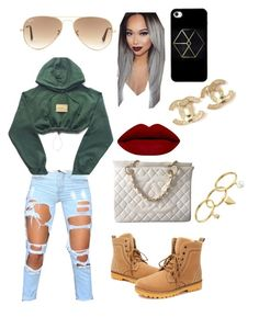 """""""Watch out lil bihhh """" by qveennnnnn ❤ liked on Polyvore featuring Chanel, Rebecca Minkoff, Ray-Ban, women's clothing, women, female, woman, misses and juniors"""