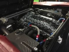 turbocharged Nissan SR20 inside engine bay of a Alfa Romeo 105