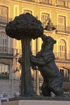 Madrid. Puerta del Sol square. Bear and Arbutus.