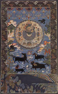 Tapestry of Cosmic Mount Meru, Tibetan Century - The Walters Art Museum Collection Le Tibet, Tibet Art, Tibetan Buddhism, Buddhist Art, Arte Tribal, Thangka Painting, Art Asiatique, Sacred Art, Romans