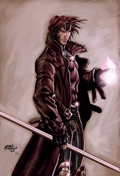 Gambit, X-Men - Love the Marvel Comic movies and he was always my fav character in the comics Comic Movies, Comic Book Characters, Comic Book Heroes, Marvel Characters, Comic Character, Comic Books Art, Comic Art, Marvel Vs, Marvel Comics