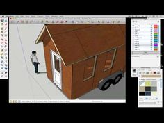 How to draw a Tiny House with Google SketchUp - Part 4