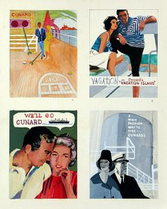 Vintage travel posters Cunard cruises