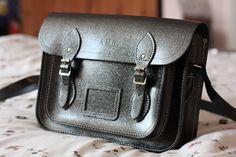 "Alice Mary Barnes' personalised 13"" Graphite Grey satchel"