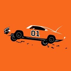 General Lee from Dukes of Hazzard www.romeoauto.it #tv #film #cinema #televisione #television #dukesofhazard #hazard #evergreen #action #cars #orange