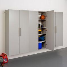 "Prepac HangUps E 108"" Storage Cabinet 3-piece Set | Kohls Armoire Garage, Garage Cabinets, Shoe Cabinets, Cupboards, Large Storage Cabinets, Storage Shelves, Garage Storage Systems, Garage Organization, Tool Storage"