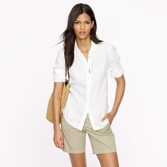 J.Crew - Perfect shirt in linen (Wow...I really cannot find a cheaper version of this shirt that looks good. This one is actually perfect.)