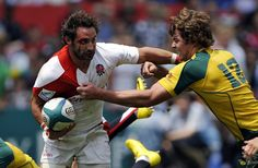 Rugby sevens... an all-out sport of sprinting, wrestling, and bleeding.