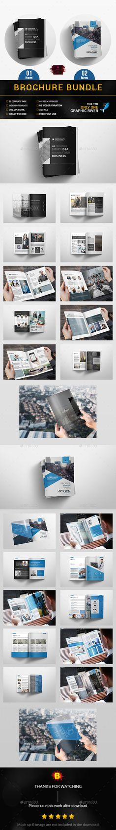 Brochure Bundle — InDesign INDD #company profile #corporate • Download ➝ https://graphicriver.net/item/brochure-bundle/19161136?ref=pxcr