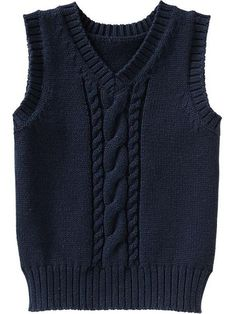 Cable-Knit Sweater Vests for Baby pullunder, Red Vest Mens, Denim Vest Men, Tweed Vest, Knit Baby Sweaters, Boys Sweaters, Sweater Vests, Cable Sweater, Knitting Patterns Boys, Knitting For Kids