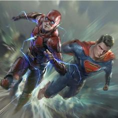 The Flash Vs Superman Fastest Man Alive Race Flash Vs Superman, Batman And Superman, Superman Stuff, Spiderman Art, Dc Comics Peliculas, Mundo Superman, Hq Marvel, Univers Dc, Arte Dc Comics