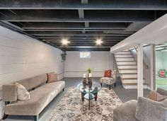 12 Finishing Touches for Your Unfinished Basement Basements Water