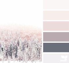 winter tones image via julie audet seedscolor designseeds color palette colorpalette christmas winter snow Design Seeds, Colour Pallette, Colour Schemes, Color Combos, Color Tones, Gray Color, Decorating Color Schemes, Mink Colour, Paint Schemes