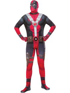 Check out Men's Deadpool 2nd Skin Costume - TV & Movie Mens Costumes from Wholesale Halloween Costumes