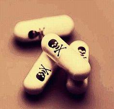 Pills with skull.