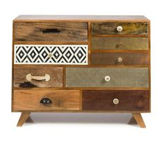 Quirky Nine Drawer Storage Cabinet
