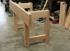 Holding the up the aprons on the Nicholson workbench