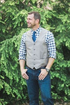 Picture Of relaxed yet stylish barn groom attire ideas 2