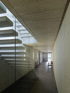 housing estate papillon - mauren, liechtenstein - gohm hiessberger - 2014 - int stair - photo bruno klomfar