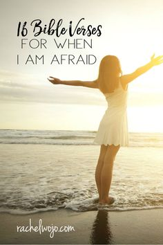 If fear threatens to paralyze you, then this list of 16 Bible Verses for When I Am Afraid will help you rely on faith in place of fear! Bible Verses About Stress, Encouraging Bible Verses, Printable Bible Verses, Scriptures, Fear Quotes, Bible Quotes, Scripture Images, Christian Life, Christian Verses