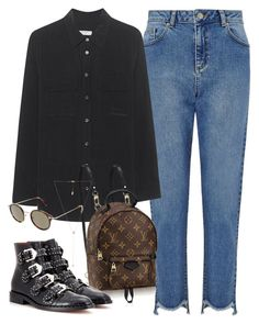 """Sin título #2722"" by camilae97 ❤ liked on Polyvore featuring Miss Selfridge, Equipment, Louis Vuitton, CÉLINE, Carbon & Hyde and Givenchy"
