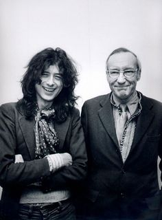 http://custard-pie.com  Jimmy Page & William S. Burroughs Love this photo! What kind of drugs were flowing immediately before or after this photograph was taken.