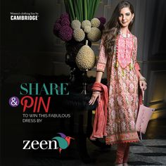 SHARE & WIN...!!! SHARE ON FACEBOOK AND PIN IT ON PINTEREST TO WIN THIS FABULOUS OUTFIT FROM ZEEN ON THIS EID (CONTEST ENDS ON 24TH OF JULY 2014).