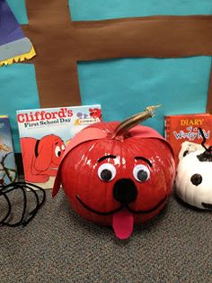 OMG...I am in love with these book character pumpkins!