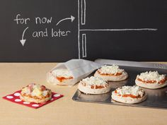 English Muffin Pizzas - These pizzas can be made ahead and frozen for the perfect after-school snack.