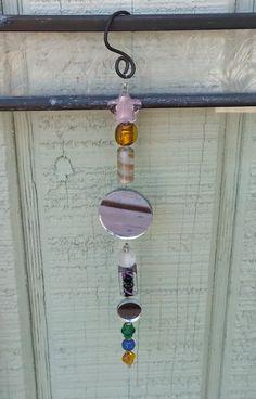 Suncatcher beads hanging patio art garden bead decor by RanchoArt