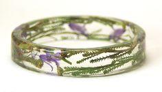 Desert Bloom-Green Bracelet-Purple Bracelet- Flower Bracelet- Flower Jewelry- Resin Jewelry-Jewelry for Summer-Green Jewelry. $25.00, via Etsy.