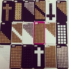 #DIY for this wonderful phone case you only need studs or spikes and a simple white , black or other colour soft phone case . Make sure it is one that can by studs ' ♡