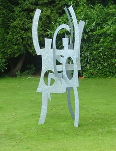 Abstract Contemporary Modern Civic Urban sculpture statue statuary by Pete Moorhouse titled: 'Troika'. Abstract Sculpture, Sculpture Art, Garden Sculpture, Statues For Sale, Outside Decorations, Art Of Man, Steel Sculpture, Outdoor Sculpture, Public Art