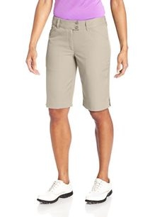 Callaway Womens Chev II 21Inch Bermuda Shorts Silver Lining 6 -- Be sure to check out this awesome product.