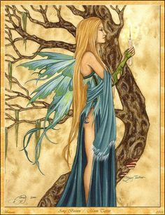 ©Fairy Art of Amy Brown - Moon Tattoo Official Amy Brown Site Tribal Tattoo Designs, Tribal Tattoos, Moon Tattoos, Celtic Tattoos, Sleeve Tattoos, Tattoo Deus, Amy Brown Fairies, Dark Fairies, Tattoos Infinity
