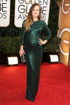 Olivia Wilde in Gucci Premiere- Golden Globes 2014