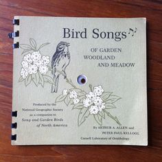 Bird Songs of Garden Woodland and Meadow Flexi Disc Record Book 1964 National Geographic Society by vintagebaronrecords on Etsy