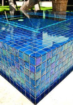 - Lightstreams All Glass Pool Tile | Peacock Blue and Aqua