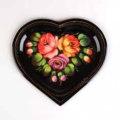 Zhostovo Heart Tray . . . Beautiful!