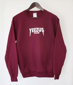 Maroon Red Kanye West Yeezus Tour Supersoft by TheGoldenLabel